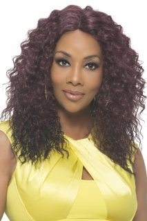 "VF-WP-CAIDEN: 18"" LAYERED LOOSE TIGHT WATER WAVE WEAVE CAP WIG"