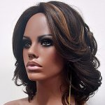 MD-NOELLA: WAVY CURL WITH CENTER SKIN PART WIG