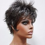 MD-ASTON: SHORT WAVY FLIP UP BOY CUT WIG