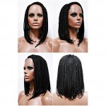 MD-LPW-137: LACE PART MEDIUM LENGTH BOX BRAIDED WIG
