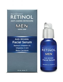 SKL- MEN ANTI- WRINKLE FACIAL SERUM- RETINOL VITAMIN A, C, E