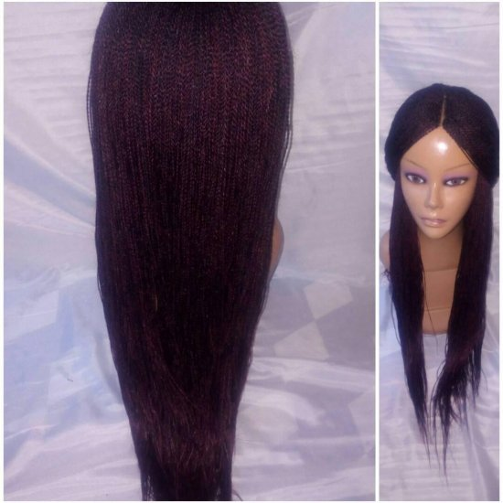 OPY-BRA LENGTH: 100% HAND MADE TWIST BRAID LACE PART WIG - Click Image to Close