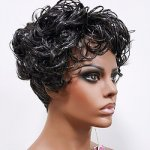 MD-FRUMA: SHORT CURLY AND FLIP UP WITH WEDGE CUT WIG