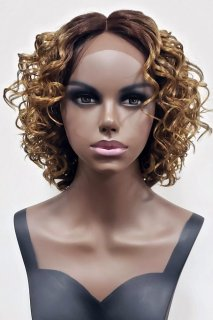 MD-SLF-ERIS: SWISS LACE FRONT SIDE PART MEDIUM LOOSE CURL WIG