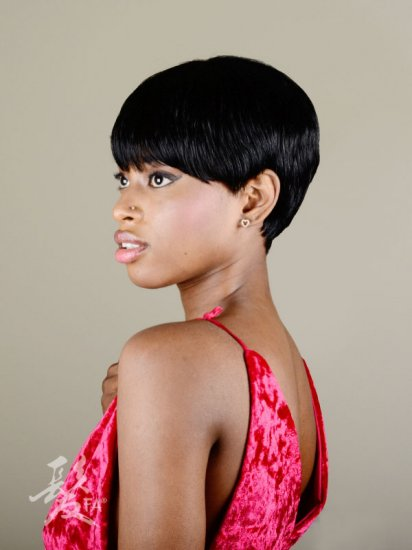 FA-BETH: QUALITY SHORT HUMAN HAIR WIG - Click Image to Close