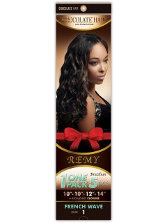 CHO- CHOCOLATE ONE PACK 5PCS.- FRENCH WAVE: WEAVING HAIR