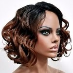 MD-LPW-164: LACE PART MEDIUM LENGTH LOOSE WAVE CURL WIG