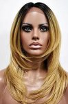 MD-SXLF-GLYN: 100% HUMAN HAIR BLENDED SWISS LACE FRONT WIG