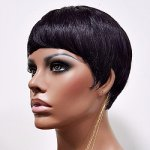 MD-VIRGINIA: SHORT SLEEK BOY CUT STRAIGHT WIG