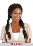 HP-PL-LILYAN: LACE FRONT BRAIDS ON BOTH SIDES WITH BABY HAIR WIG