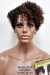 MD-SLP-KEEN: LACE PART OFF CENTER PART SHORT CORK SCREW CURL WIG