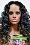 MD-SS-176-CP: LACE PART CENTER PART LONG MEDIUM CURLY WIG