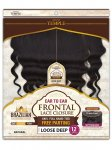"CHO-CHOCOLATE INDIAN TEMPLE FRONTAL LACE CLOSURE-12"": LOOSE DEEP"