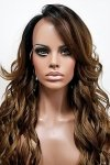 MD-SX53-DEON: 100% HUMAN HAIR BLENDED WITH SYNTHETIC HAIR WIG