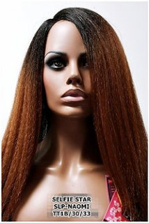 MD-SLP-NAOMI: LACE PART LONG STRAIGHT NATURAL YAKI TEXTURE WIG