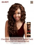 CHO- CHOCOLATE ONE PACK 5 PCS: SWEET TWIST- WEAVING HAIR