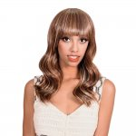 HP-MV-SHARON: WAVY CURL STRAIGHT CHINA BANG FULL WIG