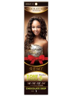 CHO- CHOCOLATE ONE PACK 5PCS.-BODY WAVE: WEAVING HAIR