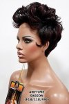 MD-SASSON: SHORT CURL MOHWAK FINGER WAVE SIDES WIG