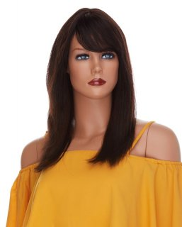 WB-H-BRITNEY: REMY HUMAN HAIR LONG LAYERED STRAIGHT WIG