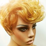 MD-CIELO: SHORT CURLY TOP BOY CUT WAVY BANGS WIG