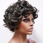 MD-BENITA: MEDIUM SEMI-WET LOOK LOOSE CURL WIG