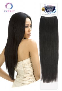 CH-BKWHUYS-18: 360 WEFT BRAZILIAN KNOT WEFT UNPROCESSED HAIR