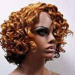 MD-LPW-117:LACE PART MEDIUM LENGTH WATER DEEP CURL WIG