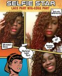 MD-SS-104-EP: LACE EDGE PART EXTRA LONG WATER DEEP CURL WIG
