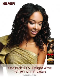 CHO- CHOCOLATE ONE PACK 5 PCS-DELIGHT WAVE: WEAVING HAIR