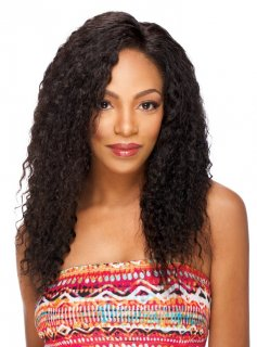 "SN-JERRY CURL 20""-22"": 100% VIRGIN HUMAN HAIR WHOLE LACE WIG"