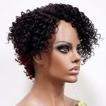 MD-LPW-156: LACE PART SHORT TIGHT JERRY CURL WIG