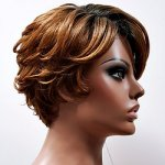 MD-LPW-119: LACE PART WAVY FRONT SWIRLED CURL BACK WIG
