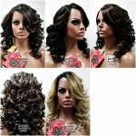 MD-IL-210DP:LACE FRONT DIAGONAL PART ROMANCE CURL WIG