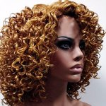 MD-LPW-116: LACE PART TIGHT CURL WATER DEEP CURL WIG
