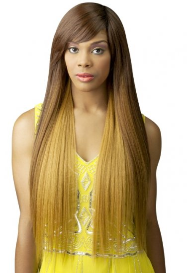 CH-BTH21: BRAZILIAN TRESS HUMAN HAIR BLEND ZEN STRAIGHT WIG - Click Image to Close