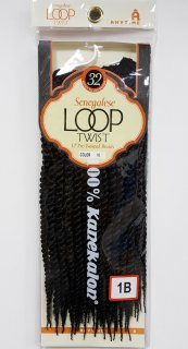 "MD-SENEGALESE LOOP TWIST 12"": 32 TWISTED CROCHET BRAID"