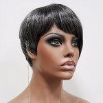MD-JOAN: SHORT BOY CUT WITH UNBLANCED BANGS WIG