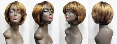 MD-SS-SPENCER: SLEEK WAVY MEDIUM PAGE BOY FULL WIG