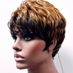 MD-GIMBYA: SHORT LOOSE WET FINGER CURL BANGS WIG