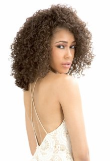CH-1301F-COLETTE: CURLY FASHIONABLE HALF WIG / FALL