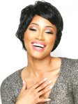 CHO-ECO-104: ECO QUALITY HUMAN HAIR BLENDED SHORT WIG