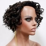 MD-LPW-171: LACE PART SHORT LOOSE DEEP CURL WIG
