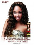 CHO- CHOCOLATE ONE PACK 5 PCS-DEEP WAVE: WEAVING HAIR