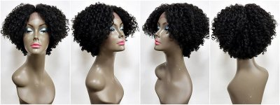 SLF-NEOLA: SWISS LACE FRONT LOOSE STRAW CURL WIG