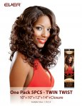 CHO- CHOCOLATE ONE PACK 5 PCS: TWIN TWIST- WEAVING HAIR