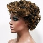 MD-TESLIN: SHORT LOOSE CURL WAVY BANGS WIG