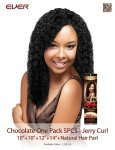 CHO- CHOCOLATE ONE PACK 5 PCS -JERRY CURL: WEAVING HAIR