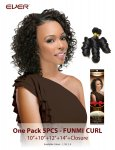 CHO- CHOCOLATE ONE PACK 5 PCS-FUNMI CURL: WEAVING HAIR
