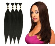 "EV-H-NR 24"": 100% HUMAN HAIR RUSSIAN NATURAL REMY BRAIDING STYLE"
